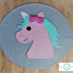Dywan JEDNOROŻEC (unicorn) wykonany ze sznurka bawełnianego 100 – 130 cm