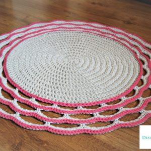 Dywan z ozdobnym wykończeniem 85 cm – dostępny od ręki w promocyjnej cenie