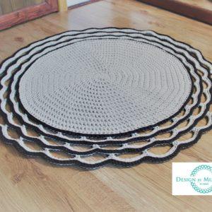 Dywan z ozdobnym wykończeniem 100 cm – dostępny od ręki w promocyjnej cenie