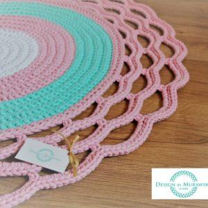 Dywan z ozdobnym wykończeniem 100 cm – dostępny od ręki