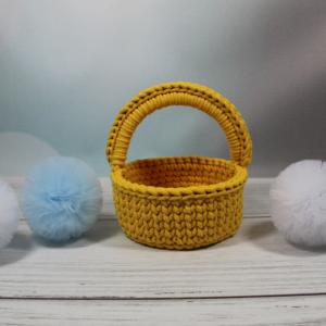 Koszyczek wielkanocny żółty