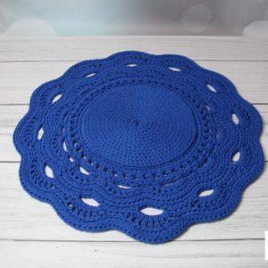 Dywan z ozdobnym wykończeniem chabrowy 80 cm – dostępny od ręki w promocyjnej cenie