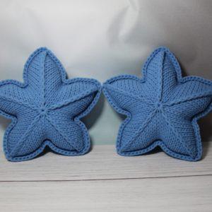 Poduszka dekoracyjna gwiazdka 36 cm niebieska- dostępna od ręki
